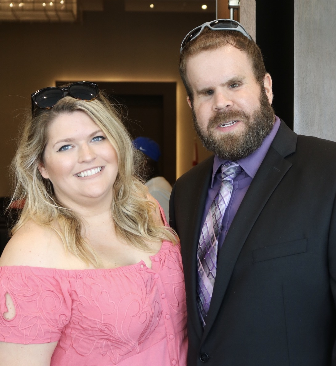 NBBA President, Blake Boudreaux, and Kelly Leng smile for the camera.
